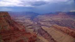 Rock Layers at the Grand Canyon and a Storm Stock Footage