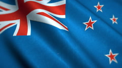 New Zealand National Flag Video - Windy New Zealand Flag Stockfootage Stock Footage