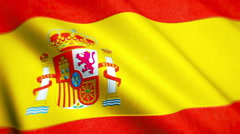 Spain National Flag Video - Windy Spanish Flag Stockfootage Stock Footage