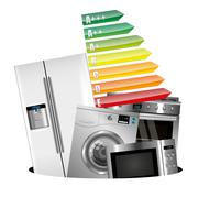 Home appliances consumption Stock Illustration