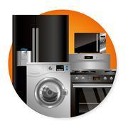 Vector household appliances Stock Illustration