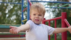 Child gesture pointing toward Stock Footage