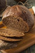 Homemade Organic Pumpernickel Rye Bread Stock Photos
