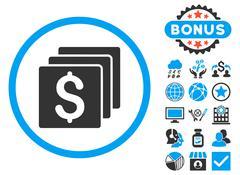Finances Flat Vector Icon with Bonus Stock Illustration