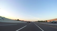 Driving on the New Jersey Turnpike Stock Footage