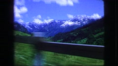 1963: a beautiful scenery showing mountain is seen filmed from a car FRANCE Stock Footage