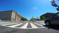 Driving on Constitution Avenue Washington DC Stock Footage