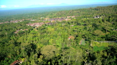 Aerial view Besakih Temple Mt Agung Rainforest Bali Indonesia Southeast Asia Stock Footage