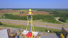 South of the Border lookout tower orbit Stock Footage