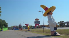 South of the boarder a mexican themed town and tourist attraction Stock Footage