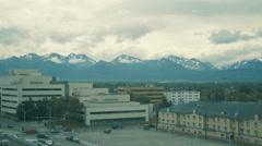 Downtown Anchorage, Alaska Stock Footage