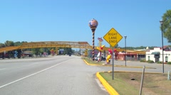 Visitor rest area South of the Border Stock Footage