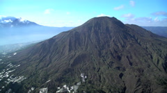 Aerial view Mt Batur Mt Abang Volcano Bali Indonesia Southeast Asia Arkistovideo