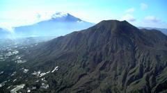 Aerial view Mt Batur Mt Abang Volcano Bali Indonesia Arkistovideo