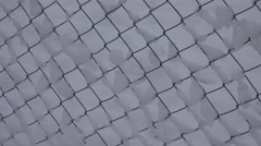 4K Wire net covered white snow in winter cold season snowy fence farm concept Stock Footage