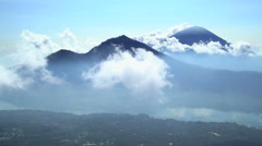 Aerial view Mt Abang Mt Agung Volcano Bali Indonesia Southeast Asia Stock Footage