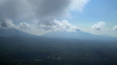 Aerial view Mt Agung mountain Peak Volcano Bali Indonesia Stock Footage