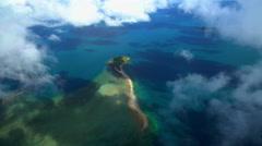 Aerial view of Hamilton Island Coral Sea Whitsundays Queensland Australia Stock Footage