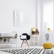 Baby room full of warmth and style Stock Photos