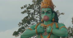 View of Hanuman statue in Batu Caves, Kuala Lumpur, Malaysia Stock Footage
