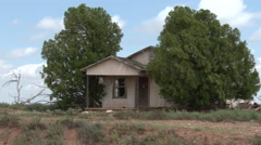 Dead trees, then pan to an abandoned home on the prairies of Texas, 4K. Stock Footage