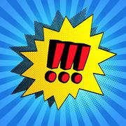 Comic bubble with exclamation points Stock Illustration