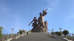 Dakar Renaissance monument, memorial - Senegal Stock Footage