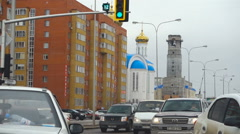 Dormition Cathedral Orthodox in Astana Stock Footage