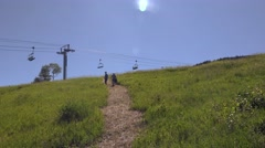 2016: ride the gondola off season POWDERHORN, COLORADO Stock Footage
