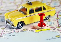 Florida USA map taxi Stock Photos