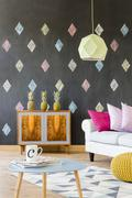 Morning coffee in a creative living space Stock Photos