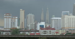 Overground train in Kuala Lumpur, Malaysia Stock Footage