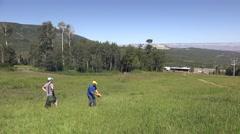 2016: a kid is seen throwing a frisbee POWDERHORN, COLORADO Stock Footage