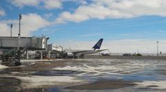 International airport of Astana Stock Footage