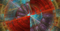 Abstract geometric circle texture motion background seamless looping fractal Stock Footage