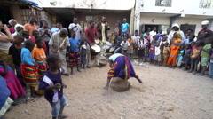 Traditional African dance in Dakar slum - Senegal Stock Footage
