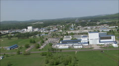 Aerials over the George Marshall Space Flight Center in Huntsville, Alabama. Stock Footage