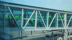 Airport jetway terminal Stock Footage