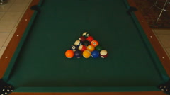 Billiard balls snooker Arkistovideo