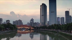China's urban landscape of chengdu latency Stock Footage