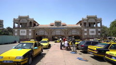 Old train station building in Dakar - Senegal Stock Footage