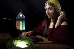 Fortune Teller with Online Business or Website Kuvituskuvat