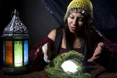 Confused of Upset Fortune Teller Stock Photos