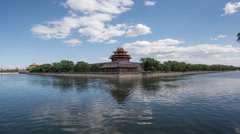 Watchtower of Forbidden City  in a sunny day Stock Footage