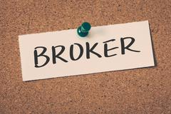 Broker Stock Illustration