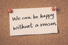 We can be happy without a reason Stock Illustration