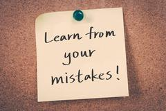 Learn from your mistakes Stock Illustration