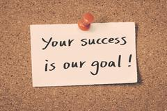 Your success is our goal Stock Illustration