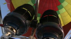 Inside Flying balloon Stock Footage