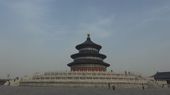 Tourist people visit Temple of Heaven Beijing religious landmark asian pavilion Stock Footage